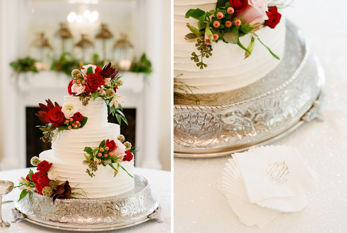 bride's cakes with flowers