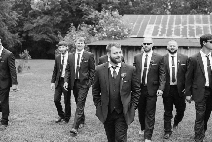 handsome bridal party