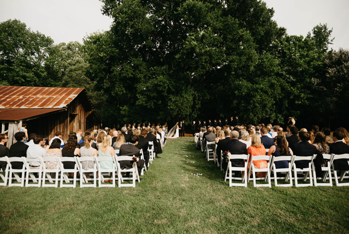 outdoor summer wedding in the country