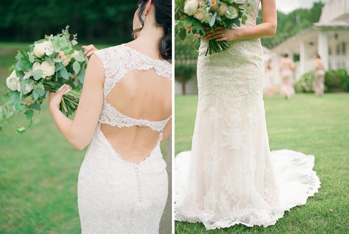 wedding dress with pretty back