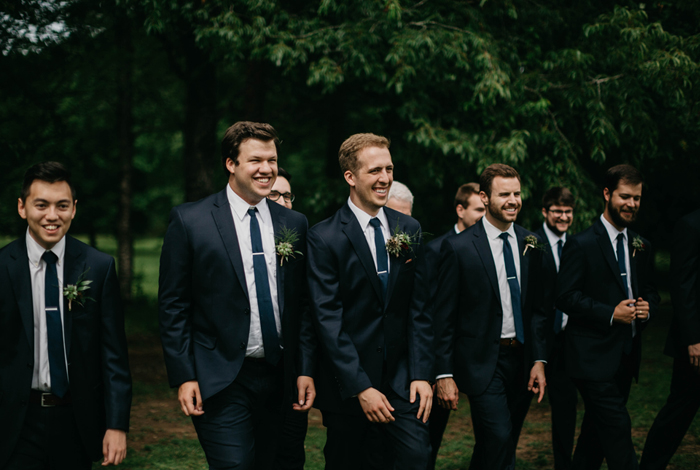 groomsmen having a good time