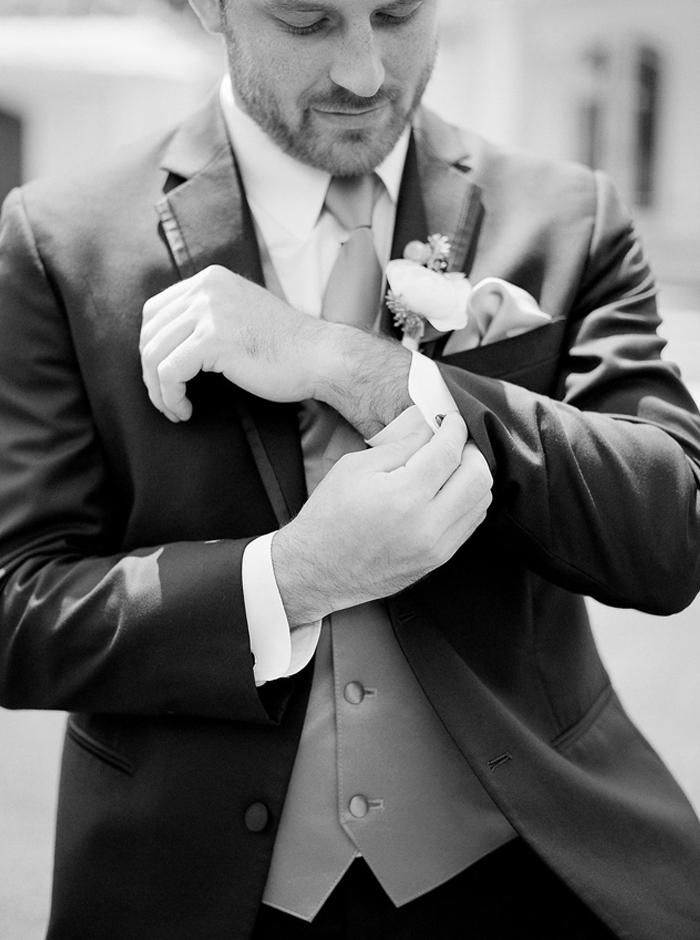 fashionable groom