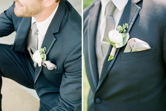 navy suit on a groom