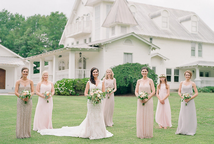 beaded bridesmaids gowns