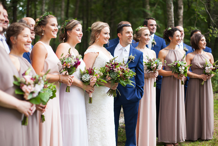 taupe bridesmaids dresses