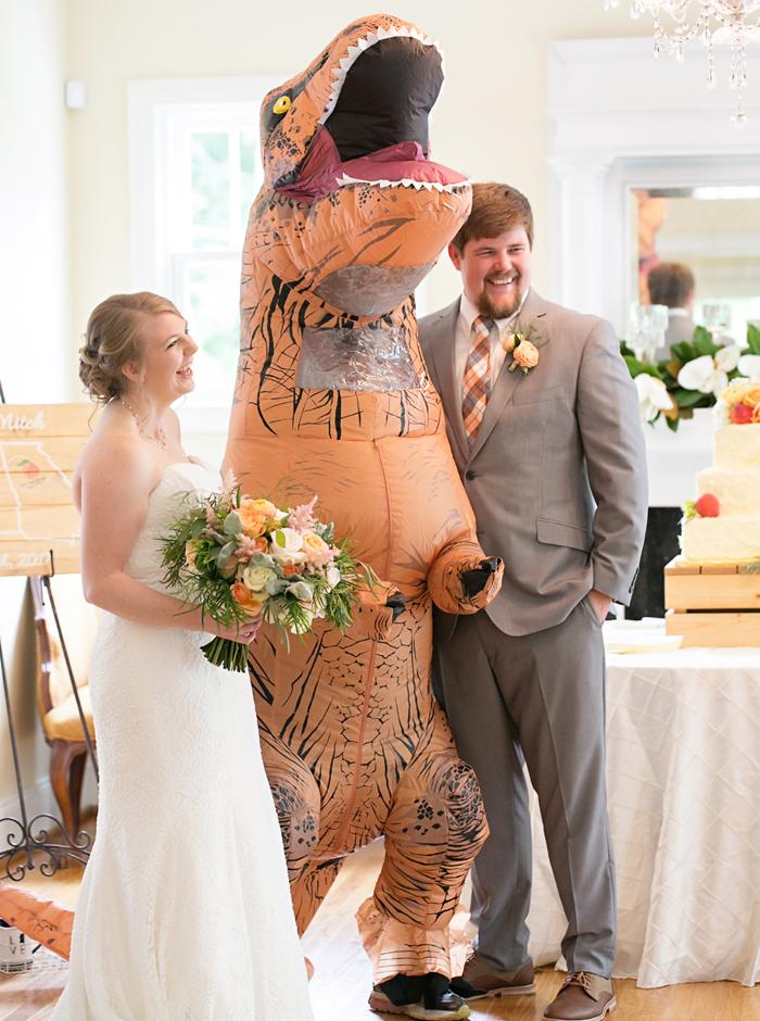 t rex wedding