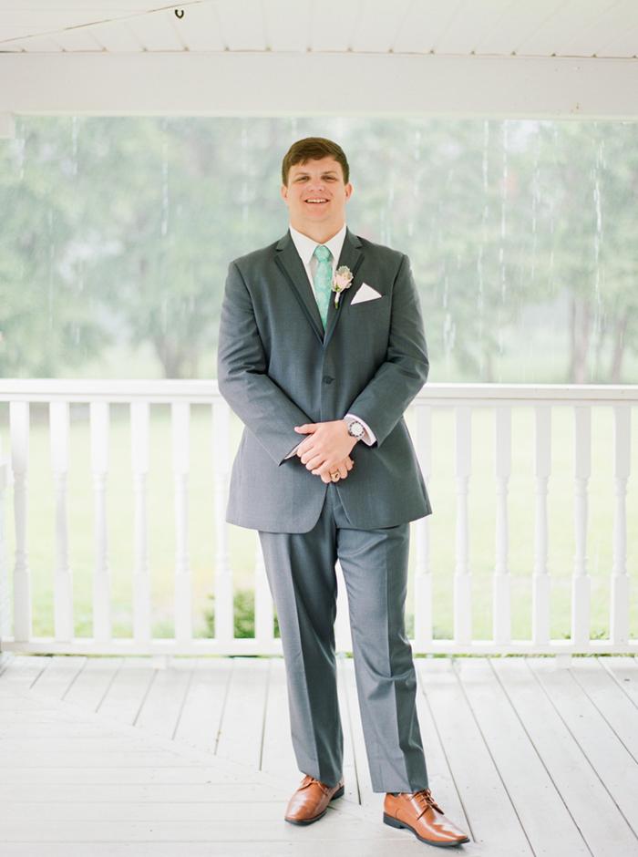 dark grey suit for groom