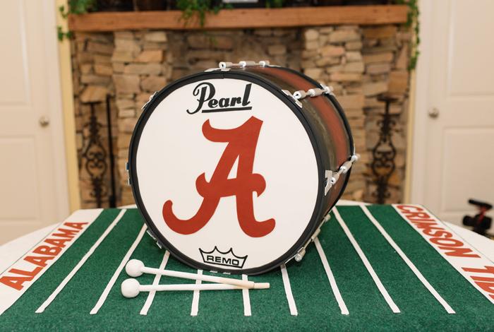 bass drum edible cake