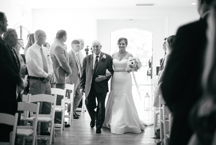 giving away of the bride