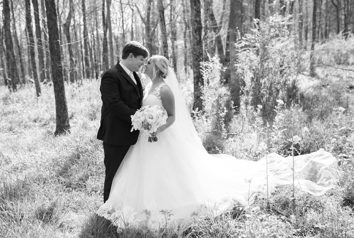 woodland wedding reception
