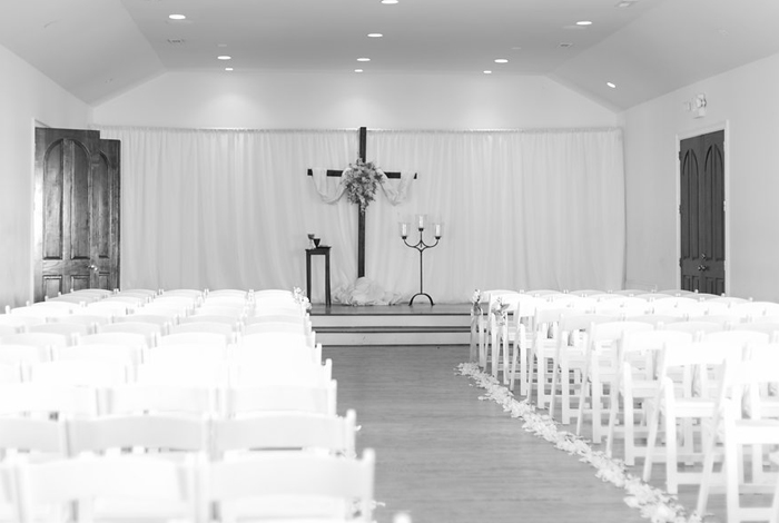 large wooden cross for ceremony