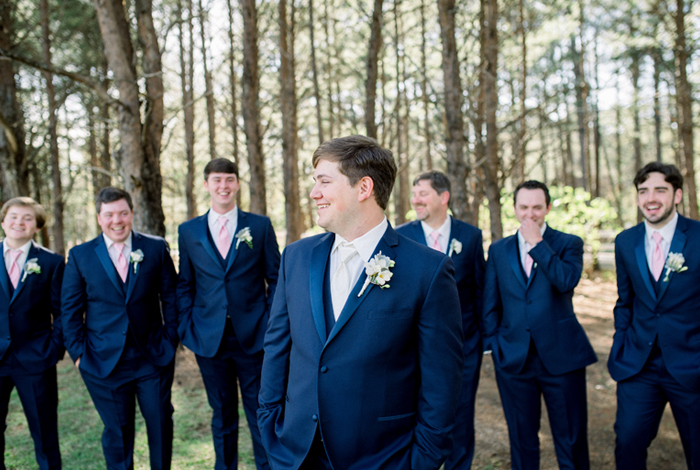 groom in navy