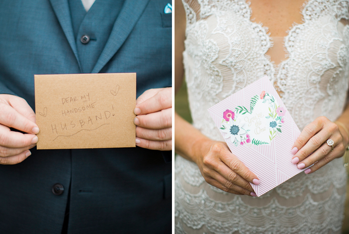 bride and groom letters