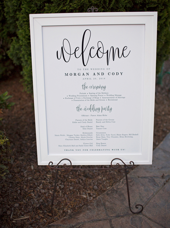 etsy wedding program