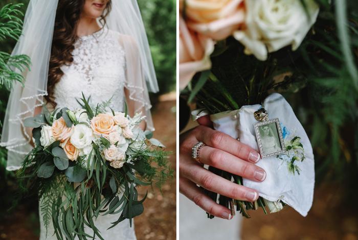 locket on a bouquet