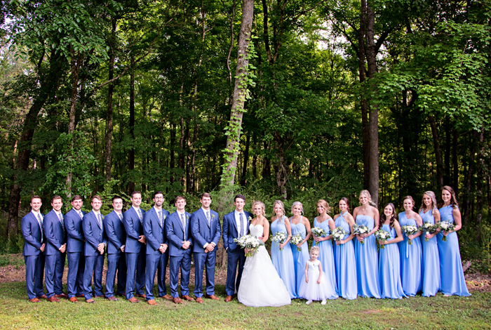 french blue bridesmaids dresses