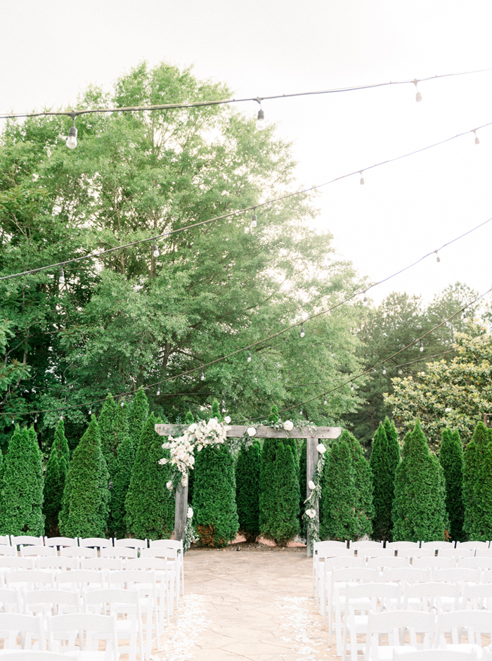 courtyard wedding at the sonnet house