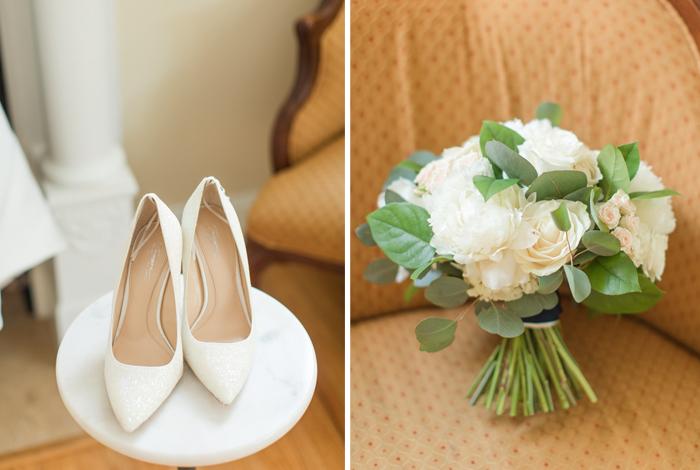 white glitter bridal heels