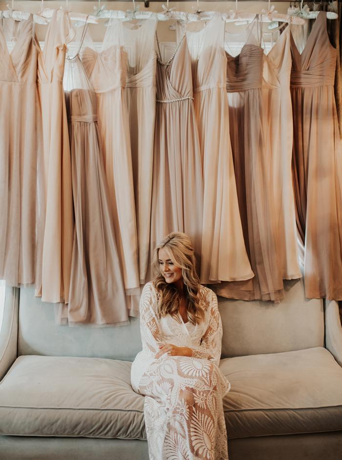 boho bridal robe