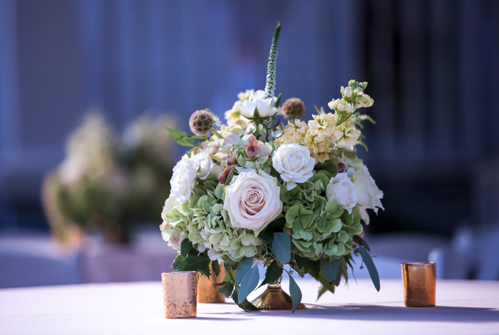 blush centerpieces