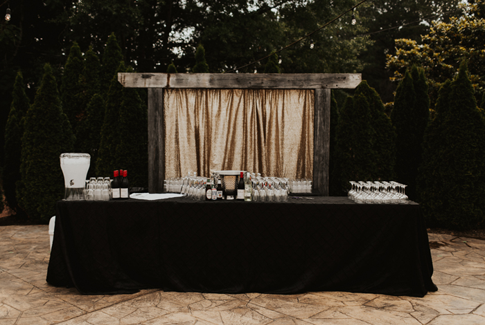 what to serve at your reception bar