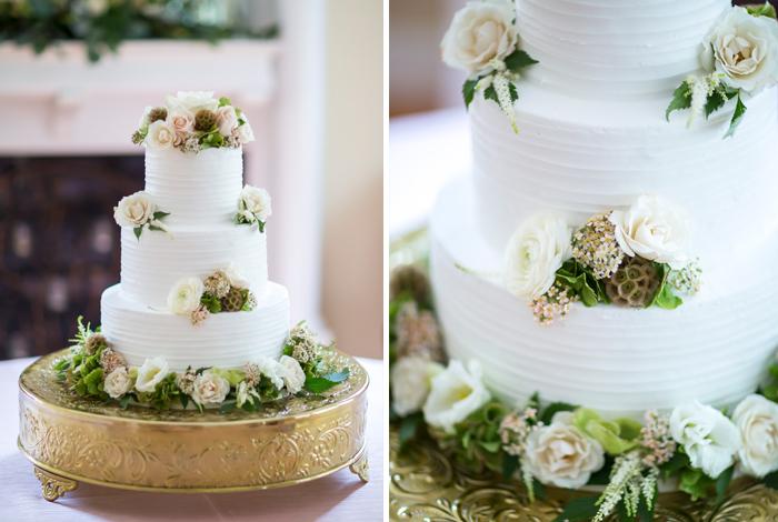 textured bride's cake