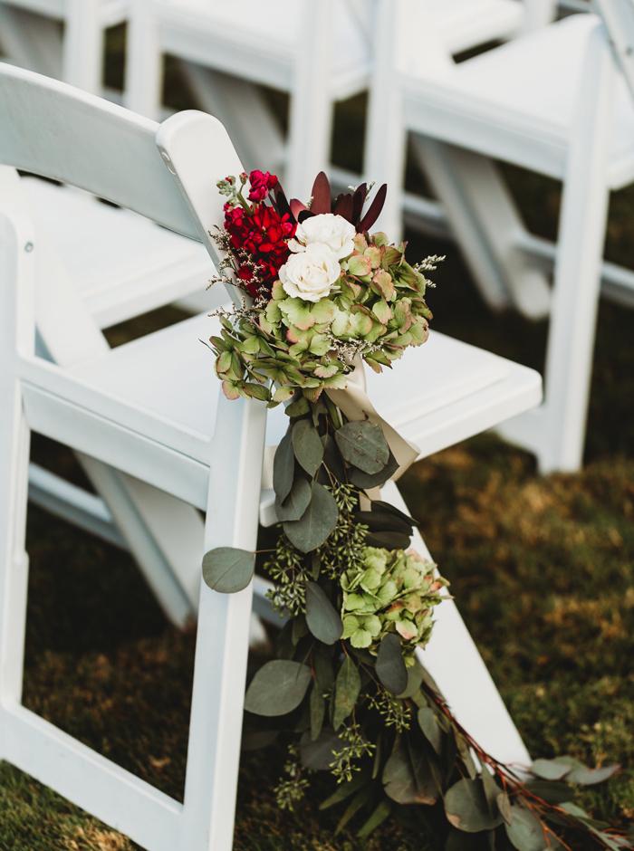 garland for ceremony decor