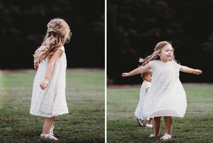 twirling in a dress