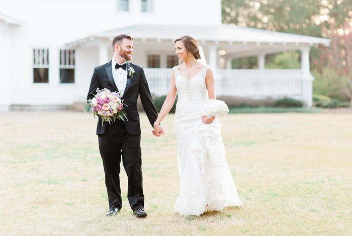 lavender bride's bouquet