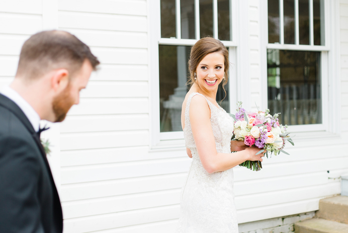 groom checking out bride