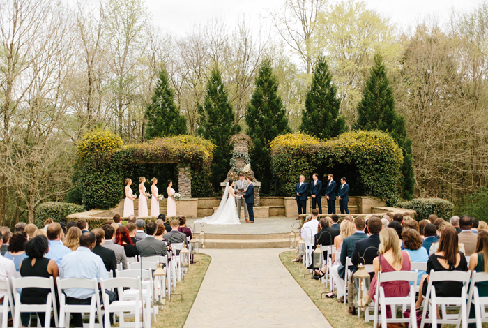 outdoor march ceremony