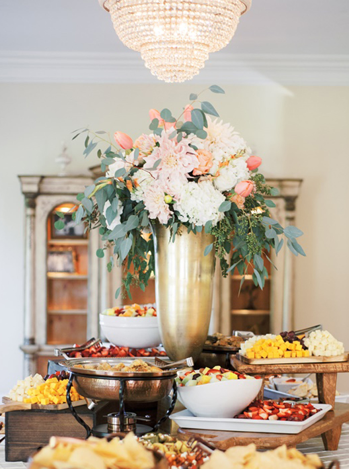 buffet reception menu