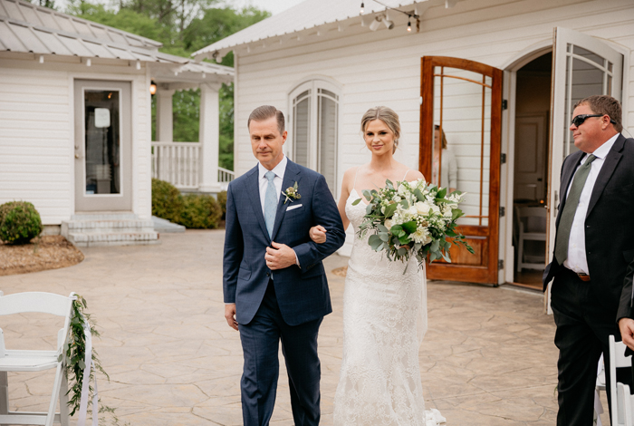 outdoor april wedding