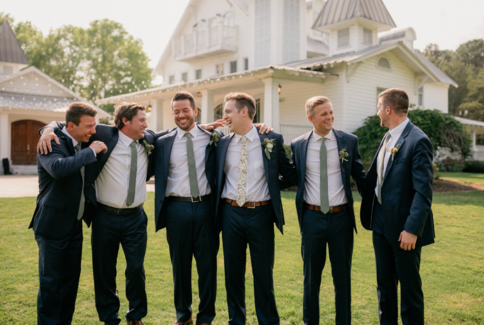 floral groomsmen ties