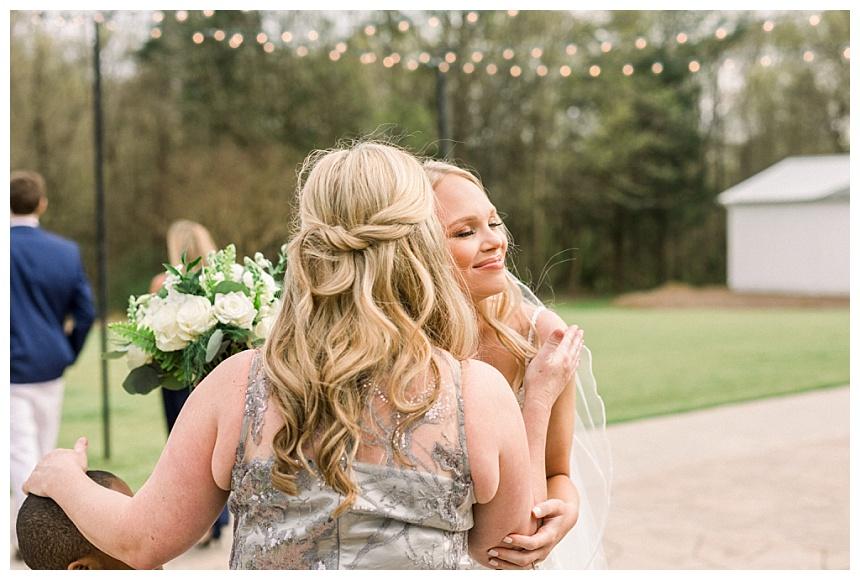half ponytail for bride