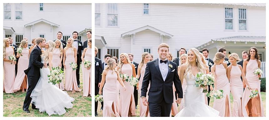 lots of bridesmaids and groomsmen