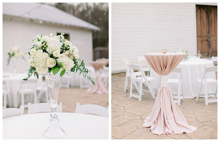 centerpieces in glass containers
