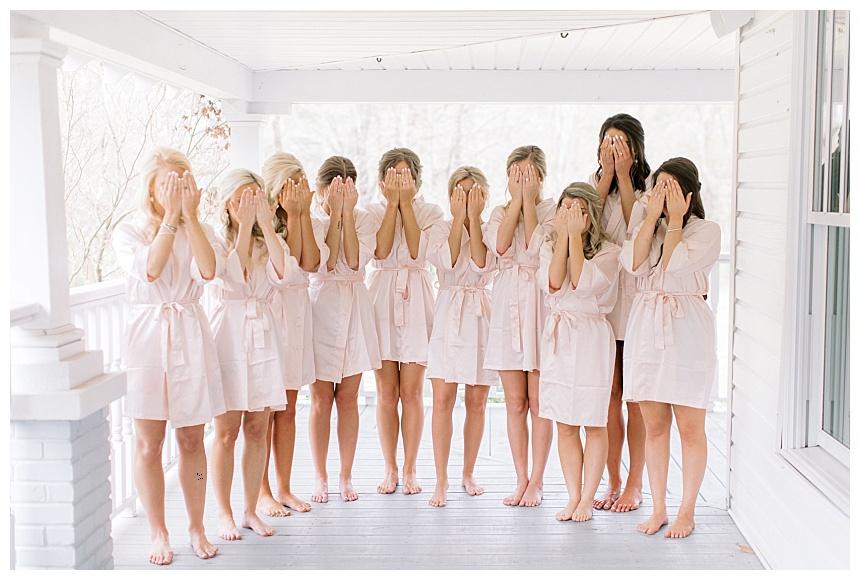 bridesmaids first look